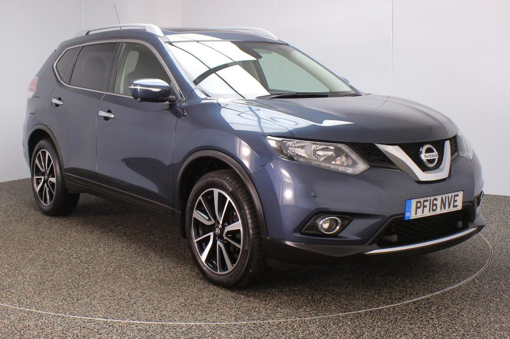 USED 2016 16 NISSAN X-TRAIL 1.6 DCI N-TEC XTRONIC 5DR AUTO PAN ROOF SAT NAV 1 OWNER 130 BHP  FULL SERVICE HISTORY + SATELLITE NAVIGATION + AROUND VIEW MONITOR + PANORAMIC ROOF + PARKING SENSOR + BLUETOOTH + CRUISE CONTROL + CLIMATE CONTROL + MULTI FUNCTION WHEEL + DAB RADIO + ELECTRIC WINDOWS + ELECTRIC MIRRORS + 19 INCH ALLOY WHEELS