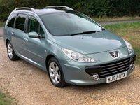 2007 PEUGEOT 307 SW 1.6 SW SE 5d AUTO 108 BHP £2490.00
