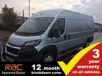USED 2018 68 PEUGEOT BOXER XLWB 435 L4 H2 Professional 130ps (Rear Camera, Leather Steering Wheel, Overhead Cabin Storage, Alloys, Auto Lights/Wipers, Front Fogs, LED DRL's, Folding Mirrors, Heated Drivers Seat)