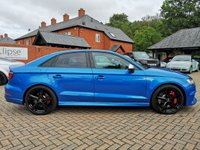 USED 2018 AUDI RS3 SALOON 2.5 RS 3 QUATTRO 4d AUTO 395 BHP FSH+LEATHER+ALLOYS+SAT NAV+BT
