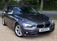"USED 2016 16 BMW 3 SERIES 2.0 320D ED SPORT 4d AUTO 161 BHP/ SAT NAV/ HEATED SEATS STUNNING & NEW SHAPE BMW 3 SERIES 320D BLUE PERFORMANCE ED SPORT (S/S) AUTOMATIC COMES WITH MANY EXTRAS/ SAT NAV/ HEATED SEATS/ CRUISE CONTROL/ PARKING SENSORS/ NEW SHAPE LIGHTS/ 1 OWNER/ FULL MAIN DEALER SERVICE HISTORY/ NEW SERVICE/ 1 YEAR NEW MOT/ 2 KEYS/ ROAD TAX £20,-/ WARRANTY/ HPI CLEARED/   BOOK A TEST DRIVE TODAY! APPLY FOR A CAR FINANCE ON OUR WEBSITE PAGE ""FINANCE"""