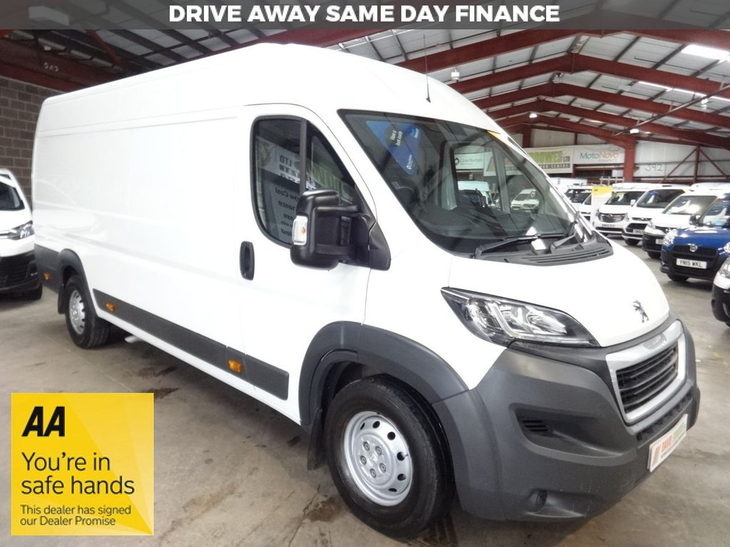 """USED 2016 16 PEUGEOT BOXER 2.2 HDI 435 L4H2 PROFESSIONAL P/V 130 BHP EX LWB VAN """"YOU'RE IN SAFE HANDS"""" - AA DEALER PROMISE"""