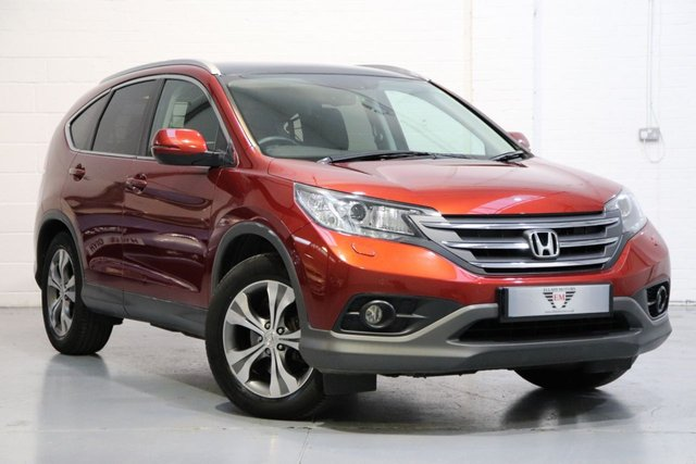 USED 2013 13 HONDA CR-V 2.2 I-DTEC EX 5d AUTO 148 BHP Honda Cr-V 2.2 i-DTEC EX 4x4 5dr,  SATNAV + LEATHER HEATED SEATS +PANORAMIC ROOF + CRUISE + REVERSING CAMERA,