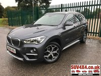 USED 2016 66 BMW X1 2.0 SDRIVE18D XLINE 5d 148 BHP SATNAV ONE OWNER FSH BODYKIT. X LINE. FACELIFT. SATELLITE NAVIGATION. STUNNING GREY MET WITH FULL BLACK LEATHER TRIM. HEATED SEATS. CRUISE CONTROL. 18 INCH ALLOYS. COLOUR CODED TRIMS. PARKING SENSORS. ELECTRIC TAILGATE. BLUETOOTH PREP. CLIMATE CONTROL WITH AIR CON. 6 SPEED MANUAL. R/CD PLAYER. MFSW. MOT 08/20. ONE OWNER FROM NEW. SERVICE HISTORY. SUV & 4X4 CAR CENTRE LS23 7FR. TEL 01937 849492. OPTION 2