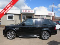 USED 2012 12 LAND ROVER RANGE ROVER SPORT 3.0 SDV6 AUTOBIOGRAPHY SPORT 5DR AUTOMATIC DIESEL 255 BHP