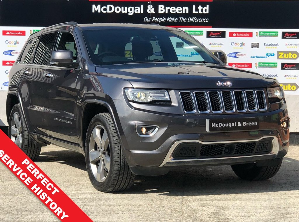 USED 2013 13 JEEP GRAND CHEROKEE 3.0 V6 CRD OVERLAND 5d AUTO 247 BHP TOP SPEC FULL SERVICE HISTORY