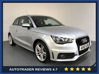 USED 2012 12 AUDI A1 1.6 TDI S LINE 3d 105 BHP AUDI HISTORY - REAR SENSORS - AIR CON - BLUETOOTH - CRUISE - CD PLAYER - HALF LEATHER - 17' ALLOYS