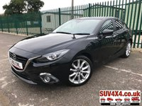 USED 2016 16 MAZDA 3 2.0 SPORT NAV 5d 118 BHP ONE OWNER ALLOYS SPORT CRUISE  STUNNING BLACK MET WITH CLOTH TRIM. HEATED SEATS. CRUISE CONTROL. 18 INCH ALLOYS. COLOUR CODED TRIMS. PRIVACY GLASS. PARKING SENSORS. REVERSING CAMERA. BLUETOOTH PREP. CLIMATE CONTROL. R/CD PLAYER. 6 SPEED MANUAL. MFSW. MOT 03/20. ONE OWNER FROM NEW. SERVICE HISTORY. SUV4X4 USED CAR CENTRE LS23 7FQ TEL 01937 849492 OPTION 2
