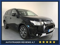 USED 2014 14 MITSUBISHI OUTLANDER 2.3 DI-D GX 3 5d 147 BHP HISTORY - REAR PARKING SENSORS - LEATHER - AIR CON - BLUETOOTH - CRUISE - PRIVACY - CD PLAYER