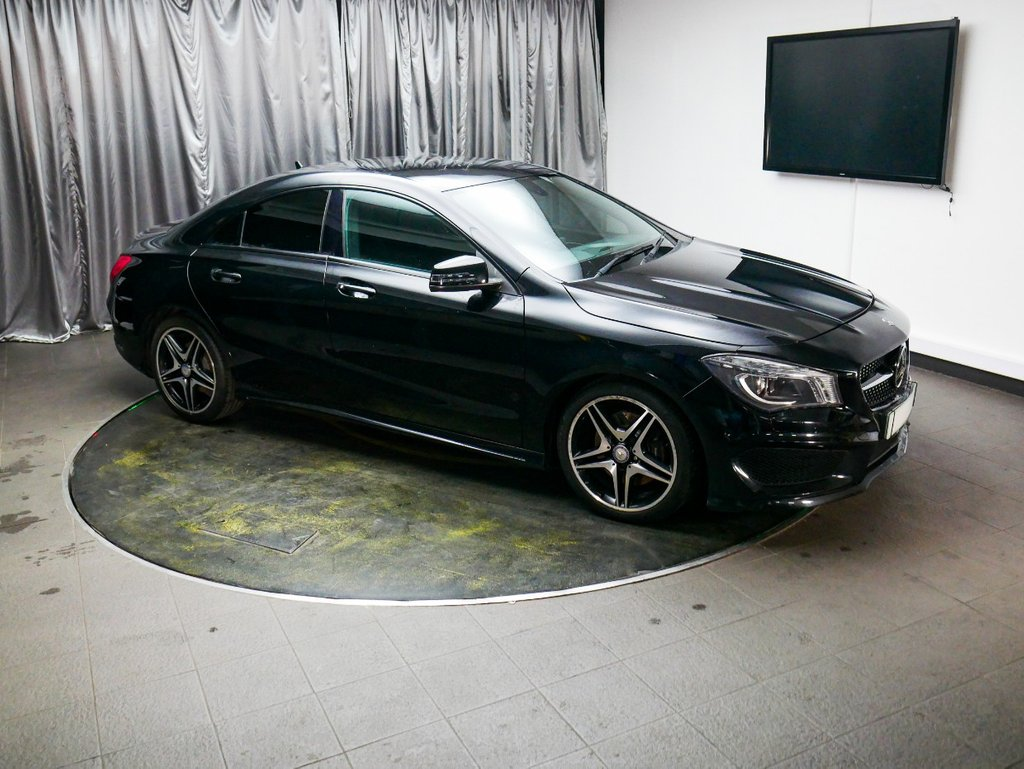 USED 2014 14 MERCEDES-BENZ CLA 2.1 CLA220 CDI AMG SPORT 4d AUTO 170 BHP £0 DEPOSIT FINANCE AVAILABLE, AUX INPUT, AIR CONDITIONING, BLUETOOTH CONNECTIVITY, CRUISE CONTROL, DAB RADIO, HEATED FRONT SEATS, STEERING WHEEL CONTROLS, PRIVACY GLASS