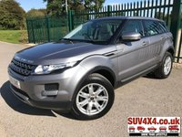 USED 2012 12 LAND ROVER RANGE ROVER EVOQUE 2.2 SD4 PURE TECH 5d 190 BHP PANROOF LEATHER FSH PANORAMIC SUNROOF. SATELLITE NAVIGATION. STUNNING GREY MET WITH BEIGE LEATHER TRIM. ELECTRIC HEATED SEATS. CRUISE CONTROL. 18 INCH ALLOYS. COLOUR CODED TRIMS. PARKING SENSORS. BLUETOOTH PREP. CLIMATE CONTROL INCLUDING AIR CON. MULTIMEDIA SYSTEM. R/CD/DAB RADIO. 6 SPEED MANUAL. MFSW. MOT 08/20. ONE PREV OWNER. SERVICE HISTORY. SUV & 4X4 CAR CENTRE LS23 7FR. TEL 01937 849492. OPTION 2
