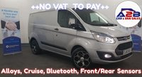 2013 FORD TRANSIT CUSTOM 2.2 290 TREND  125 BHP.  NO VAT TO PAY , Alloys, Front/Rear Parking sensors, Bluetooth, 3Seats, Cruise Control and much more..... £8980.00