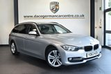 """USED 2013 63 BMW 3 SERIES 2.0 318D SPORT TOURING 5DR 141 BHP full service history * NO ADMIN FEES * FINISHED IN STUNNING GLACIER METALLIC SILVER WITH ANTHRACITE UPHOLSTERY + FULL SERVICE HISTORY + BLUETOOTH + CRUISE CONTROL + DAB RADIO + LIGHT PACKAGE + AUTO AIR CON + RAIN SENSORS + PARKING SENSORS + 17"""" ALLOY WHEELS"""