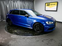 USED 2015 65 AUDI A3 2.0 S3 SPORTBACK QUATTRO NAV 5d AUTO 296 BHP *£0 DEPOSIT FINANCE AVAILABLE, AUX INPUT, AIR CONDITIONING, BLUETOOTH CONNECTIVITY, CLIMATE CONTROL, COLOUR DISPLAY SCREEN, DAB RADIO, GEARSHIFT PADDLES, PRIVACY GLASS, SAT-NAV, STEERING WHEEL CONTROLS, TRIP COMPUTER