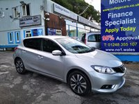 USED 2016 16 NISSAN PULSAR 1.2 N-CONNECTA DIG-T 5d 115 BHP, only 8000 miles, One Owner, Sat Nav *** FULL LEATHER ***