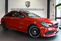 """USED 2017 17 MERCEDES-BENZ CLA 2.1 CLA 220 D AMG LINE 5DR AUTO 174 BHP full service history Finished in a stunning jupiter red styled with 18"""" alloys. Upon opening the drivers door you are presented with half black leather interior, satellite navigation, panoramic sunroof, bluetooth, attention assist, AMG styling package, cruise control, night package, active park assist"""
