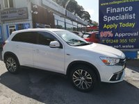 2017 MITSUBISHI ASX 1.6 3 5d 115 BHP only 23000 miles, full leather, pearlescent white £12495.00