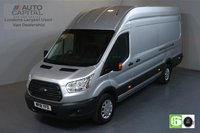 USED 2018 18 FORD TRANSIT 2.0 350 TREND L4 H3 JUMBO 129 BHP RWD EURO 6 ENGINE AIR CON, FRONT-REAR PARKING SENSORS