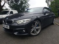 USED 2014 64 BMW 4 SERIES 2.0 420D M SPORT 2d AUTO 181BHP LEATHER+19ALLOYS+SPORTS KIT+DAB+CD+SATNAV+MEDIA+BLUETOOTH+USB+AUX