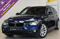 USED 2016 66 BMW 3 SERIES 2.0 318D SE TOURING 5d AUTO 148 BHP HEATED LEATHER, SAT NAV, CRUISE, DETACHABLE TOWBAR, ELECTRIC TAILGATE, PRIVACY GLASS, REVERSE CAMERA