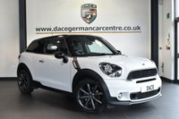 """USED 2013 13 MINI PACEMAN 1.6 COOPER S [CHILI PACK] 3DR 184 BHP full service history * NO ADMIN FEES * FINISHED IN STUNNING LIGHT WHITE WITH CARBON BLACK UPHOLSTERY + FULL SERVICE HISTORY + BLUETOOTH + HEATE SEATS + XENON LIGHTS + DAB RADIO + RAIN SENSORS + AUTO AIR CON + DYNAMIC TRACTION CONTROL + PARKING SENSORS + 18"""" ALLOY WHEELS"""
