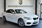 """USED 2014 14 BMW 2 SERIES 3.0 M235I 2DR AUTO 322 BHP full service history * NO ADMIN FEES * FINISHED IN STUNNING ALPINE WHITE WITH FULL LEATHER INTERIOR + FULL SERVICE HISTORY + SATELLITE NAVIGATION + BLUETOOTH + XENON LIGHTS + HEATED SEATS + CRUISE CONTROL + LIGHT PACKAGE + AUTO AIR CON + RAIN SENSORS + PARKING SENSORS + 18"""" ALLOY WHEELS"""