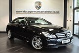 """USED 2012 62 MERCEDES-BENZ E CLASS 3.0 E350 CDI BLUEEFFICIENCY SPORT 2DR AUTO 265 BHP full service history * NO ADMIM FEES * FINISHED IN STUNNING OBSIDIAN BLACK WITH LEATHER INTERIOR + FULL SERVICE HISTORY + SATELLITE NAVIGATION + BLUETOOTH + HEATED SEATS WITH MEMORY + AMG STYLING PACKAGE-FRONT SPOILER, SIDE SKIRT + DIRECT START / ECO START/STOP FUNCTION + PARKING SENSORS + 18"""" ALLOY WHEELS"""