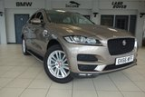 """USED 2016 66 JAGUAR F-PACE 2.0 PRESTIGE AWD 5d AUTO 178 BHP FINISHED IN STUNNING BRONZE WITH FULL LEATHER SEATS + FULL JAGUAR SERVICE HISTORY + SATELLITE NAVIGATION + PANORAMIC SUN ROOF + REVRSE CAMERA + HEATED FRONT AND REAR SEATS + ELECTRIC TOWBAR + PARKING SENSORS + CRUISE CONTROL + MULTIFUNCTIONAL STEERING WHEEL + VOICE ACTIVATED CONTROLS + WI-FI HOTSPOT + DAB DIGITAL RADIO + BLUETOOTH + AIR CONDITIONING + 19"""" ALLOY WHEELS"""