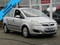 USED 2008 08 VAUXHALL ZAFIRA 1.9 LIFE CDTI 5d 120 BHP FINANCE OR CREDIT CARDS NOT ACCEPTED