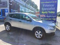 USED 2009 59 NISSAN QASHQAI 2.0 VISIA 5d AUTO 140 BHP, only 62000 miles ***APPROVED DEALER FOR CAR FINANCE247 AND ZUTO  ***