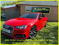 USED 2016 16 AUDI A4 3.0 TDI QUATTRO S LINE 4d AUTO 215 BHP +FASH+HEATED LEATHER+NAV+
