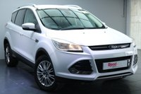 "USED 2013 63 FORD KUGA 2.0 TITANIUM TDCI 5d 160 BHP 17""ALLOYS+FULL MANUFACTURER SERVICE HISTORY+HALF LEATHER TRIM+PARKING SENSORS+PRIV GLASS+CRUISE CONTROL & CLIMATE CONTROL"