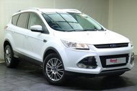 "USED 2013 13 FORD KUGA 1.6 TITANIUM 5d 147 BHP 17""ALLOYS+HALF LEATHER TRIM+FULL SERVICE HISTORY+BLUETOOTH+PRIV GLASS+CLIMATE CONTROL"