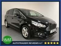 USED 2016 16 FORD S-MAX 2.0 TITANIUM TDCI 5d AUTO 148 BHP FORD HISTORY - 1 OWNER - 7 SEATS - SAT NAV - PARKING SENSORS - AIR CON - BLUETOOTH - CRUISE - PRIVACY