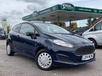 USED 2014 14 FORD FIESTA 1.6 ECONETIC TDCI 1d 94 BHP Only 28,000 Miles, One Owner, Rear Parking Censors, Finance Arranged.