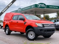 USED 2013 63 FORD RANGER 2.2 D XL DOUBLE CAB Truckman Top, Air Con, One Owner, Service History, Finance Arranged.