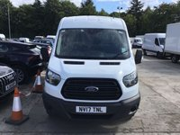 USED 2017 17 FORD TRANSIT 2.0 350 L2 H2 P/V 1d 129 BHP All Vehicles with minimum 6 months Warranty, Van Ninja Health Check and cannot be beaten on price!