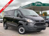 USED 2013 63 FORD TRANSIT CUSTOM BLACK PANEL VAN  Air Con, Only 54,000 Miles, Ex MOD, Good Service History.