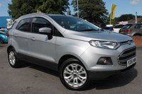 USED 2016 66 FORD ECOSPORT 1.5 ZETEC TDCI 5d 94 BHP EXCELLENT SERVICE HISTORY - MASSIVE MPG - CHEAP ROAD TAX