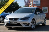 USED 2015 15 SEAT LEON 1.4 TSI FR TECHNOLOGY 5d 150 BHP SATELLITE NAVIGATION, FRONT AND REAR PARK PILOT, CRUISE CONTROL