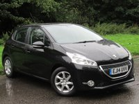USED 2014 14 PEUGEOT 208 1.2 ACTIVE 5d 82 BHP FULL TOUCH SCREEN MEDIA