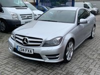 USED 2014 MERCEDES-BENZ C CLASS 2.1 C250 CDI AMG SPORT EDITION PREMIUM 2d AUTO 202 BHP Half Leather Service History Low Mileage Alloy Wheels Navigation Reverse Camera Media Bluetooth Connectivity  Mercedes 2.1 C250 CDI AMG SPORT EDITION PREMIUM 2d AUTO 202 BHP Half Leather Service History Low Mileage Alloy Wheels Navigation Reverse Camera Media Bluetooth Connectivity