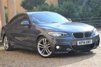 2014 BMW 2 SERIES 2.0 218D M SPORT 2d 141 BHP £9450.00