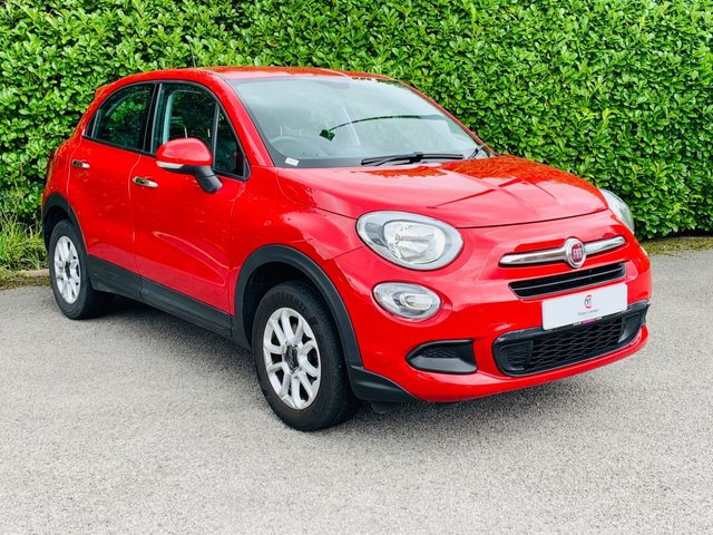 "USED 2016 16 FIAT 500X 1.6 POP 5d 110 BHP One Owner From New, Full Main Dealer Service History, Air Conditioning, Low Insurance Group 7, 16"" Alloy Wheels, Cruise Control, Leather + Cloth Trim, AUX, Tinted Glass, Electric Windows, Electric Mirrors, Spare Key, Drive Away In Under 1 Hour"