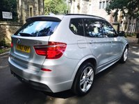 USED 2013 63 BMW X3 3.0 XDRIVE30D M SPORT 5d AUTO 255 BHP CALL OUR SUPER FRIENDLY TEAM FOR MORE INFO 02382 025 888