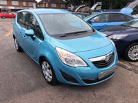 USED 2011 11 VAUXHALL MERIVA 1.7 EXCLUSIV CDTI 5d 128 BHP GREAT VALUE LOW MILEAGE DIESEL HATCHBACK, FULL HISTORY, SUPPLIED WITH A NEW MOT