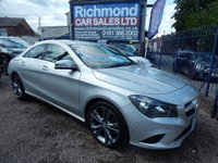 "USED 2014 14 MERCEDES-BENZ CLA 1.8 CLA200 CDI SPORT 4d 136 BHP SAT NAV, 1/2 LEATHER INTERIOR, 18"" ALLOY WHEELS,FRONT AND REAR PARKING SENSORS"