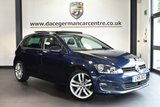 "USED 2016 16 VOLKSWAGEN GOLF 1.6 GT EDITION TDI BLUEMOTION TECHNOLOGY 5DR 109 BHP superb service history * NO ADMIN FEES * FINISHED IN STUNNING BLUE WITH CLOTH UPHOLSTERY + SUPERB SERVICE HISTORY + SATELLITE NAVIGATION + PANORAMIC SUNROOF + BLUETOOTH + DAB RADIO + CRUISE CONTROL + HEATED MIRRORS + USB/AUX PORT + PARKING SENSORS + 18"" ALLOY WHEELS"