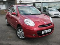 USED 2012 61 NISSAN MICRA 1.2 ACENTA 5d AUTO 79 BHP Automatic. Air condtioning. Bluetooth. Full Service History. 5 Door.