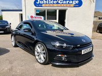 "USED 2013 13 VOLKSWAGEN SCIROCCO 2.0 R LINE TDI BLUEMOTION TECHNOLOGY 2d 140 BHP Sat Nav, Heated Leather, 19"" Alloys, Dab Radio!"